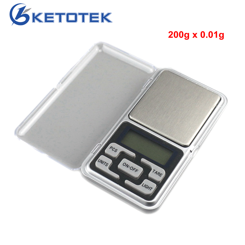 200g x 0.01g Digital Jewelry Scale Pocket Scale Electronic Weighing Scale Mini Libra High Accuracy Weigh Balance high precision electronic lcd display scale mini jewelry pocket digital scale 1000g 0 01g weighing scale balance g oz ct dwt