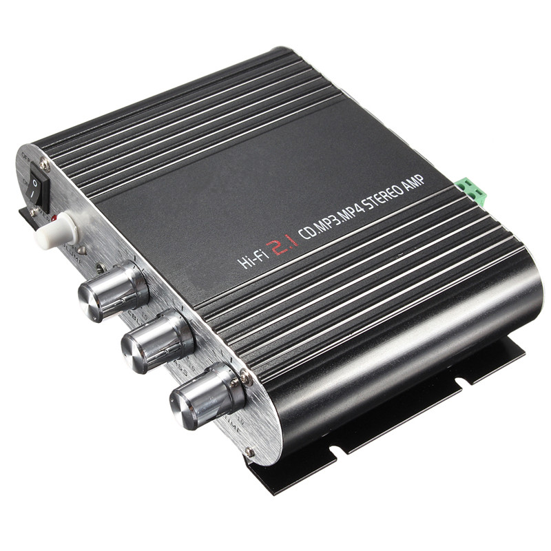 New Arrival 20W 12V Super Bass Mini Hi Fi Stereo Amplifier Booster Radio MP3 for Car