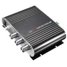 Nueva Llegada 20 W 12 V Super Bass Mini Hi-Fi Stereo Amplificador Booster De Radio MP3 para el Coche En Casa