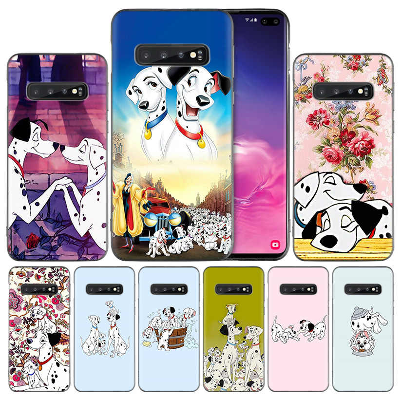 101 Dalmatians Black Silicone Case Cover for Samsung Galaxy S10 S10e 5G S9 S8 S7 S6 Edge J8 J6 J5 J4 Plus 2018