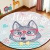 Artistic Korean Style Cute Sweet Cartoon Vogue Round Non Slip Mat Rug Cushion Carpet For Bathroom