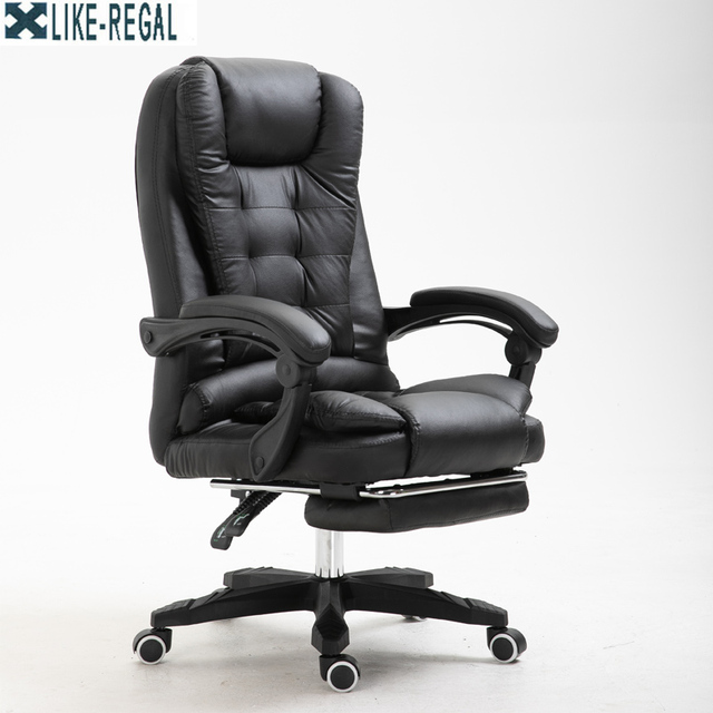 LIKE REGAL Silla de jefe para oficina, poltrona ergonómica para escritorio u ordenador, con reposapiés, oferta especial