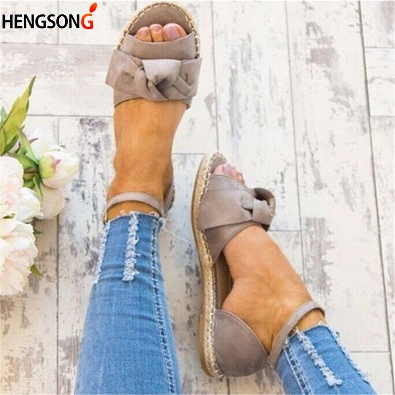 Frauen Sandalen Plus Größe 35-43 Wohnungen Sandalen Für 2019 Sommer Schuhe Frau Peep Toe Casual Schuhe Low Heels Alias Mujer Schwarz Frauen Schuhe
