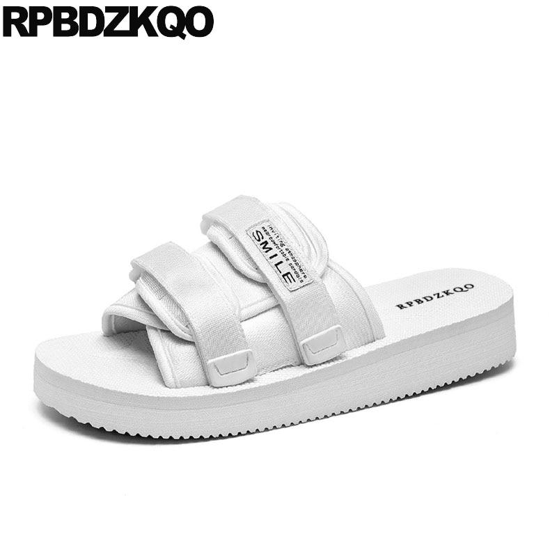Water White Slides Slippers Shoes Men Strap Beach Slip On Mens Sandals 2018 Summer Outdoor ...