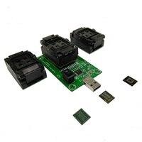 EMMC153 eMCP162 221 à USB banc d'essai Lire écrire siège de Programmation une carte mère Test Trois sortes circuit intégré ligne de Données