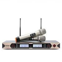 Intelligent Display! YUEPU RU U82 Gravity Mute Sensitivity UHF karaoke Microphone Wireless Professional Dual Handheld for Stage