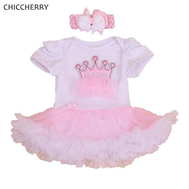 Crown Birthday Tutu Dresses For Girls with Headband Vestido Bebe Roupas Infantis Menina Baby Girl Dress Toddler Birthday Outfits