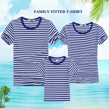 Купить с кэшбэком 2019 Summer Style Family Accessories Clothing Father Mother Child T-Shirt Casual Stripe Fashion T-Shirt Apparel