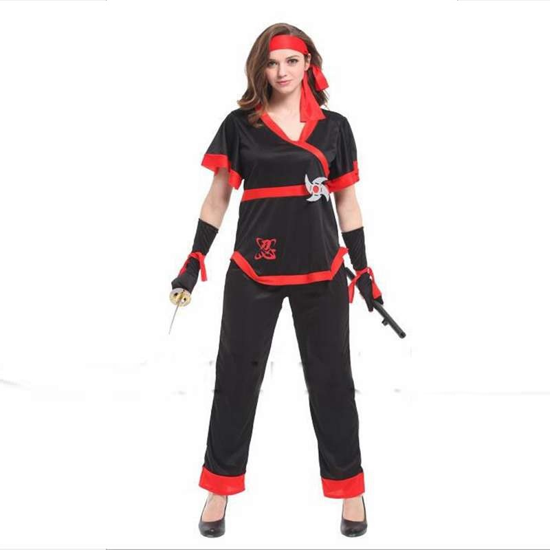 Halloween Party Costumes Show Clothing Gorgeous Female Ninja Cosplay Costume Preventing Hairs From Graying And Helpful To Retain Complexion