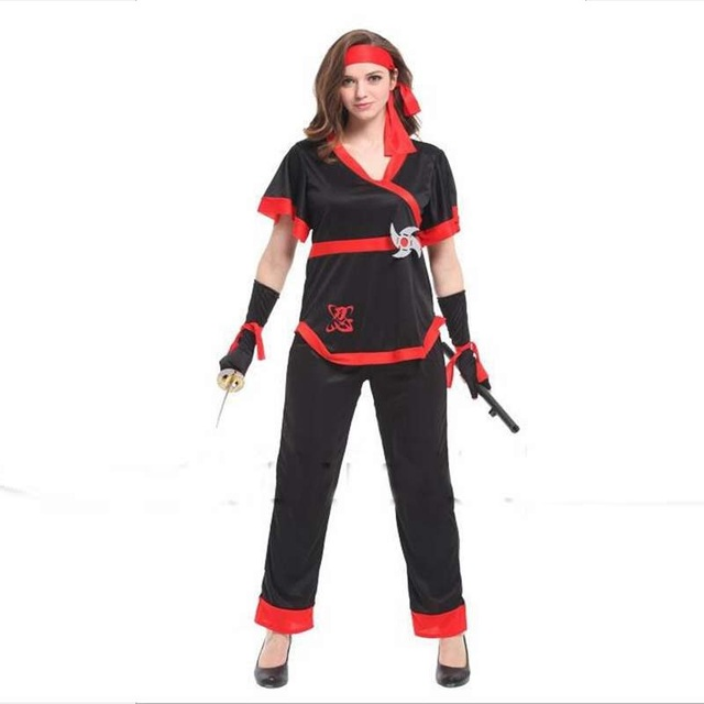 Halloween Party Costumes Show Clothing Gorgeous Female Ninja Cosplay