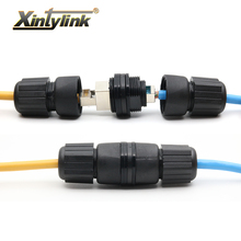 xintylink RJ45 connector waterproof utp stp cat6 socket M25 F/F female ethernet cable cat5e cat 6 8p8c double straight head ip67 стоимость
