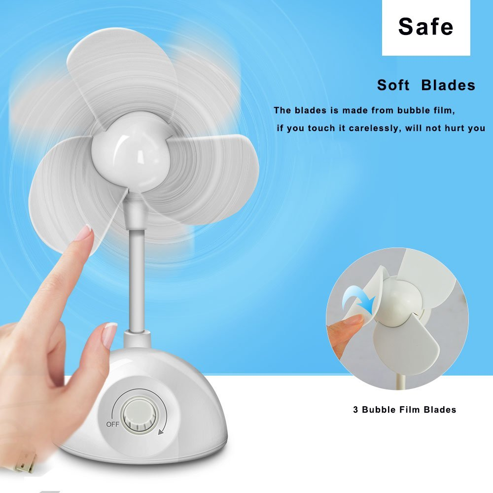 Table Fan Diagram All Picture Saving Energy Mini Personal Stepless Speed Soft Blade Desk Usb For Desktop Computers Laptops Home Office In Fans From Appliances On