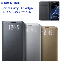 Original Samsung LED View Cover Smart Cover Phone Case For Samsung GALAXY S7 Edge G9350 S7