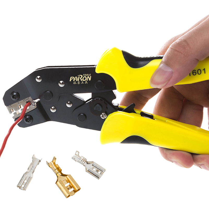 New Professional multitool Wire Crimper Engineering Ratchet Terminal Crimping Pliers JX-02C 0.25-2.5mm2 Insulated Terminals