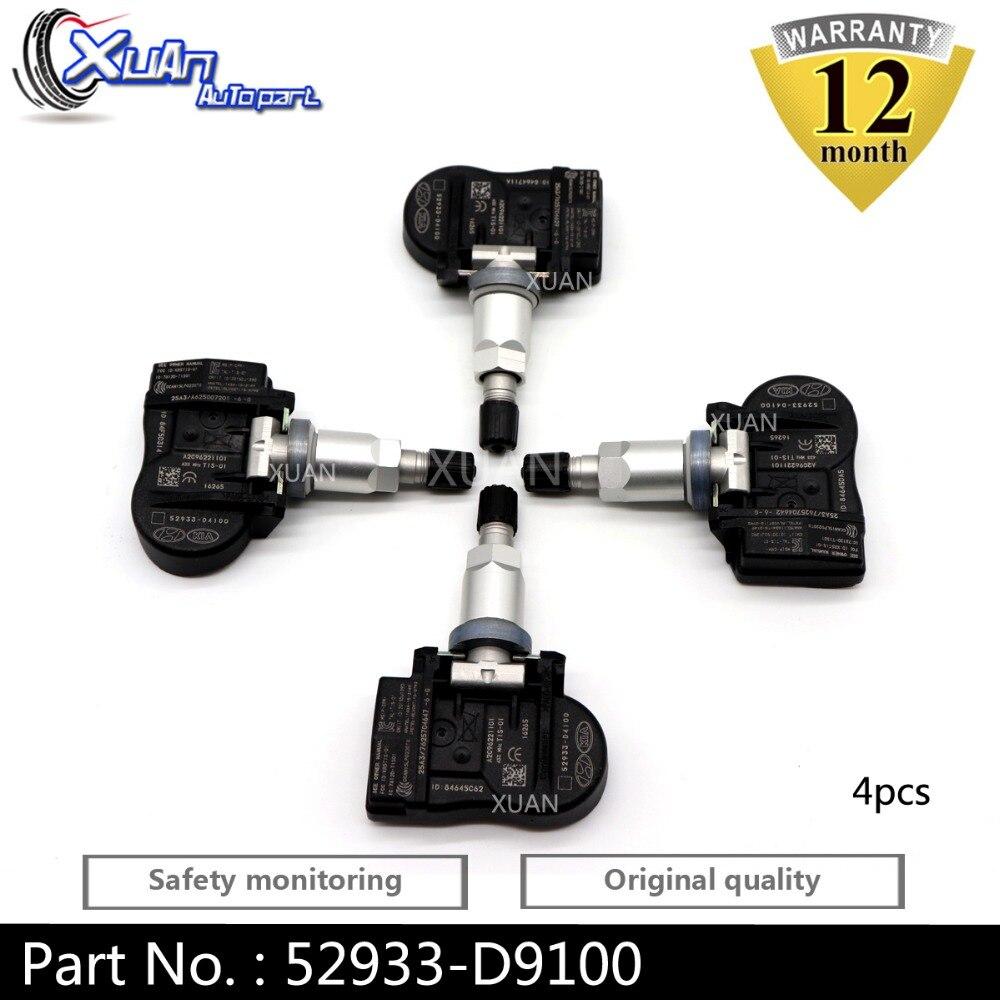 XUAN 52933-D9100 52933D9100 czujnik monitorowania ciśnienia w oponach TPMS dla KIA Sportage QL K7 KX5 KX3 CADENZA 2016-2018 433 MHz