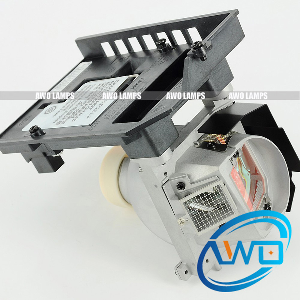 180-Day Warranty AWO Original Projector Lamp NP20LP with Module for NEC U300X/U310W  Free Shipping awo 180 day warranty projector lamp module elplp19 v13h010l19 for epson emp 30 powerlite 30c free shipping