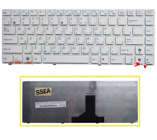 LAESS Nouvelle RU Clavier pour ASUS N82 N82J N82JQ N82JG N82JV K42 A42F X44H X43 A42 A42D A42J K42D A42J U32 U35 U41 clavier Russe
