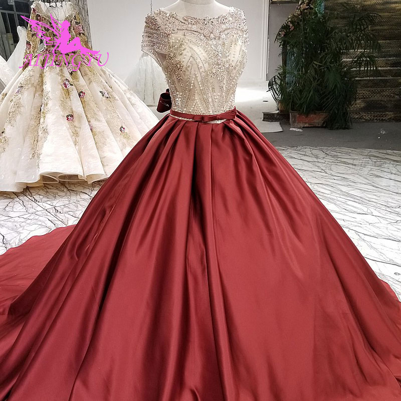 AIJINGYU Dresses For The Wedding Non Traditional Gown Union Fashion White Bridal Buy Gowns In Dubai Simple Bride Dress