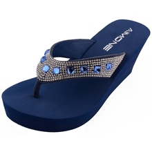 AIMONE Summer Woman Shoes Platform bath slippers Wedge Beach Flip Flops High Heel Slippers For Women Brand Navy Ladies Shoes platform slippers women heel shoes high wedge slipper women shoes high heel platform shoes ladies pantoufle femme