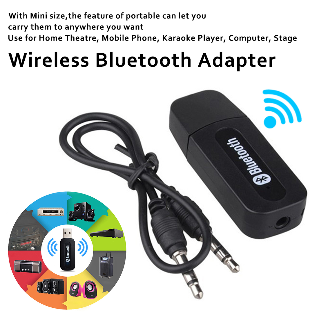 Wireless USB Bluetooth Adapter 2.0 Bluetooth Dongle Music Sound Receiver Adaptador Bluetooth Transmitter For Computer PC Laptop