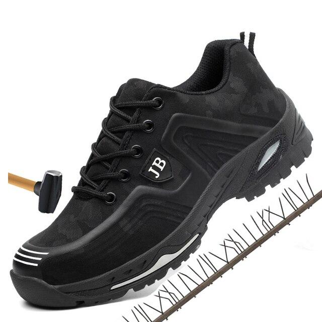 Erkekler bahar yaz ışık nefes deodorant emniyet iş ayakkabısı Çelik burunlu güvenlik ayakkabıları kap koruyucu ayakkabı