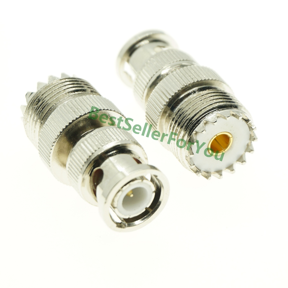 New UHF Female SO-239 SO239 Plug To BNC Male Jack RF Adapter Connector PL259