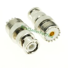 Nova UHF Feminino SO-239 SO239 plug para BNC Macho conector do adaptador RF jack PL259