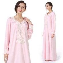 Pregnancy maternity Nightgown Maternity Pajamas lace long Dress Sleepwear Pregnant Breastfeeding Elegant Nursing Clothes Pyjama