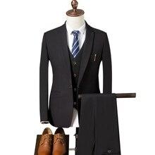 Jacket Pant Vest Classic Designs Male Suit 2018 Slim Fit Prom Wedding Suits for Men  Suits Business Blazer Groom Tuxedo