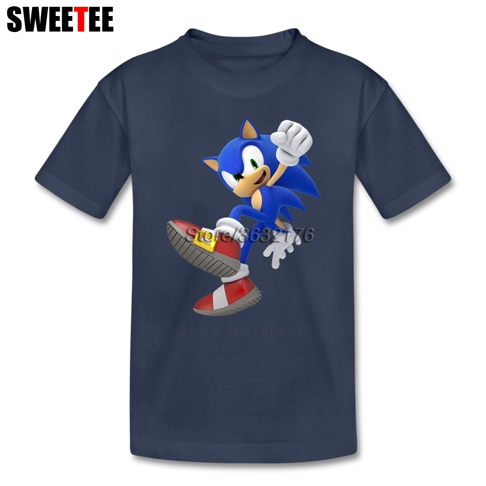 Sonic The Hedgehog T Shirt Kid 100% Cotton Short Sleeve Crew Neck Infant Tshirt Children Costume 2018 Baby T-shirt For Boy Girl