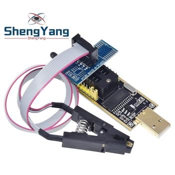 CH341A 24 25 serii EEPROM Flash BIOS programator USB moduł SOIC8 SOP8 klip testowy na EEPROM 93CXX 25CXX 24CXX dla arduino tanie i dobre opinie CN (pochodzenie) Nowy Napęd ic Komputer -40-+85 For Arduino STM
