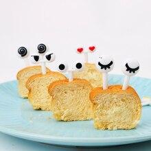 NICEYARD 10 шт./компл. фруктовые закуски зубочистка еда выбирает Декоративная посуда прекрасный мультфильм глаза гаджеты кухонный инструмент