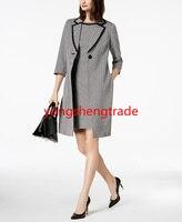 Модный женский костюм на одной пуговице, куртка, классическое платье футляр на заказ 100