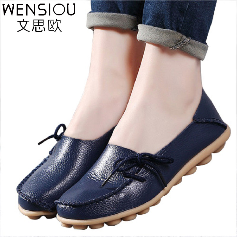 Hot Sale Women Flat Shoes Breathable Soft Bottom Wild Women Basic Flats Spring And Autumn Shoes Female Loafers Footwear GT179 2017 new spring female flat heels martin shoes bullock shoes female thick bottom loafers large size women shoes obuv ayakkab