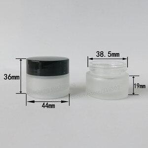Image 2 - Frasco de maquillaje de 20x15 ml de vidrio esmerilado vacío con tapas negras doradas foca blanca 1/2oz contenedores de vidrio cosmético vacíos portátiles
