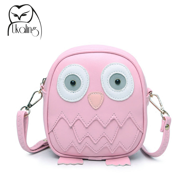 Ukqling Cute Purse Handbag Owl Women Messenger Bags For Summer Crossbody Shoulder Bag With Belt Strap