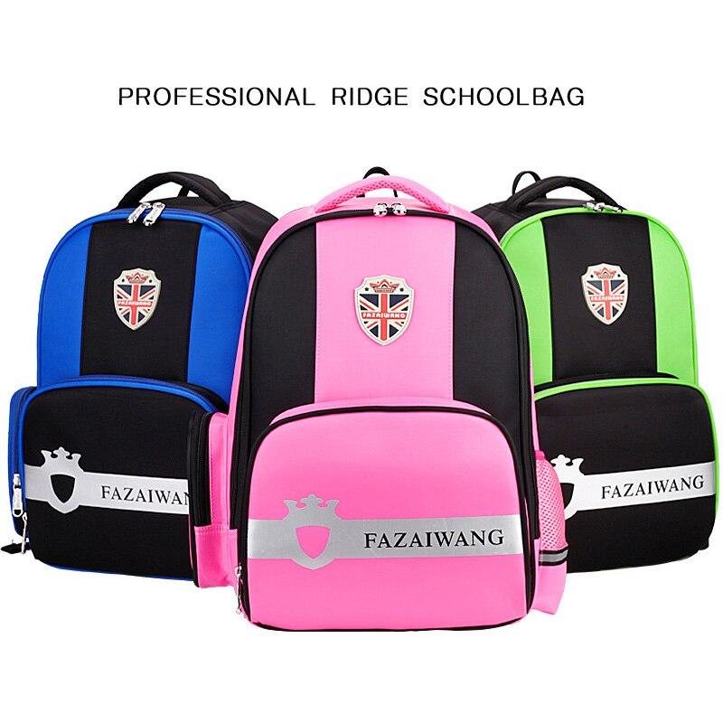 2018New Kids School Bags For Boys Girls Big Capacity Canvas School Backpack Waterproof Orthopedic Student Schoolbag Children Bag