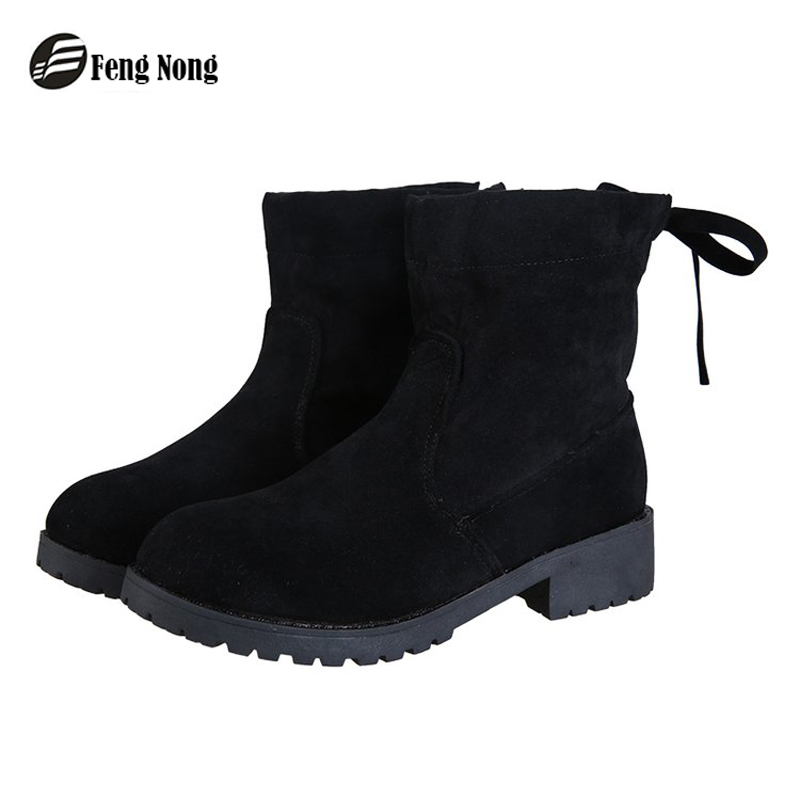 Fengnong Trend Design Exquisite Girl Boots Winter Mid-calf Wedges Internal Increase Shoes Fashion Woman Rubber Boots W121