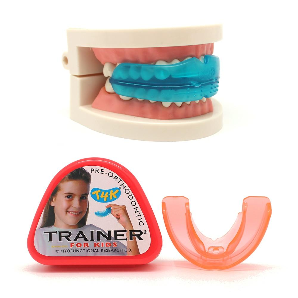 T4K Kinder Ausrichtung Hosenträger Mundstücke für Zähne Gerade Zahn Pflege Kinder Dental Zahn Kieferorthopädie Appliance Trainer