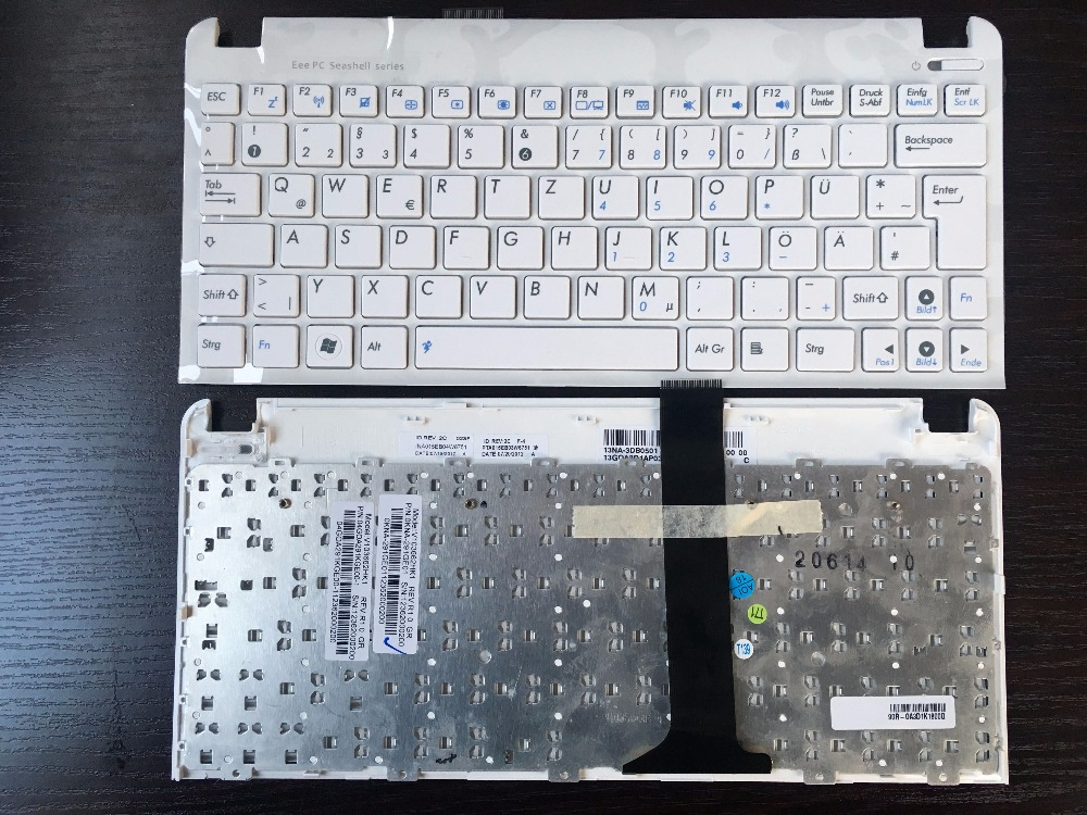GR German Keyboard For Asus Eee PC 1015 1015B 1015BX 1015PW 1015CX 1015PD 1011 1015PX With White Frame Laptop Keyboard