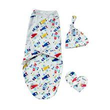1 комплект детская пеленка+ шапка+ перчатки Шапочка Для Купания Спальный мешок пеленки Одеяло Одежда для новорожденных
