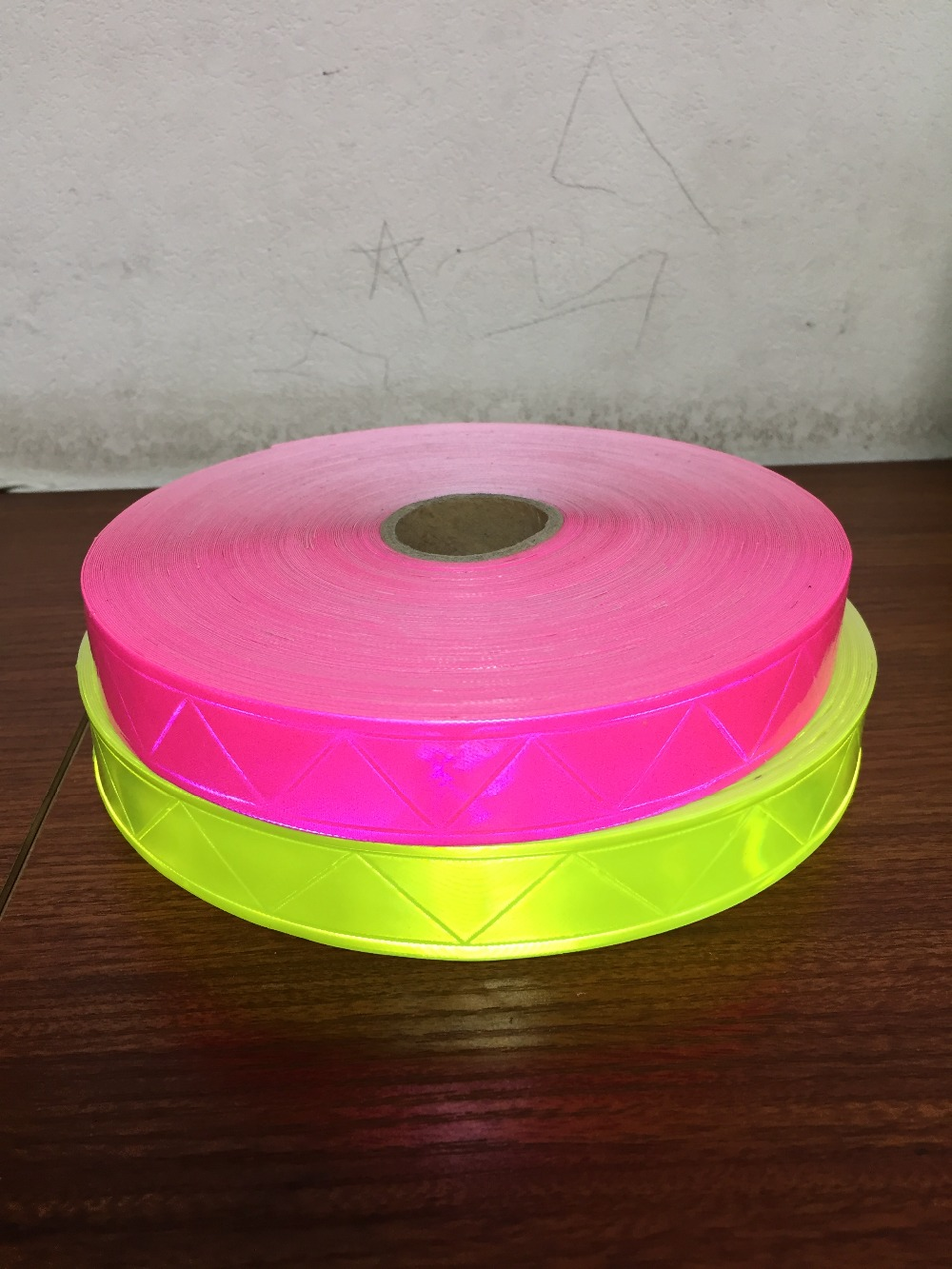 2.5CM*50M Reflective PVC Strip Fluorescent Warning Tape Night Flashing Safety Material Garment Accessories