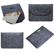 цена на 2017 Soft Wool Felt Laptop Bag For Coque Macbook Air 13 Sleeve Laptop Case For Mac book Air Pro Retina 11 12 13 15 Inch Cover