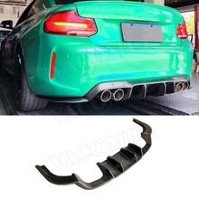 2 серии углеродного волокна заднего бампера для губ Диффузор для BMW F87 M2 Coupe 2 двери 2016 2017