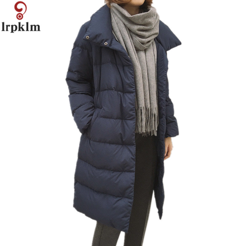 2017 Winter New Fashion Long Coat Loose Thickened Turtleneck Warm Jacket Cotton Padded Zipper Plus Size Outwear Casacos  YY247 2015 cotton padded elderly warm thickening long cotton padded jacket mens new single breasted wholesale zipper loose coat d10