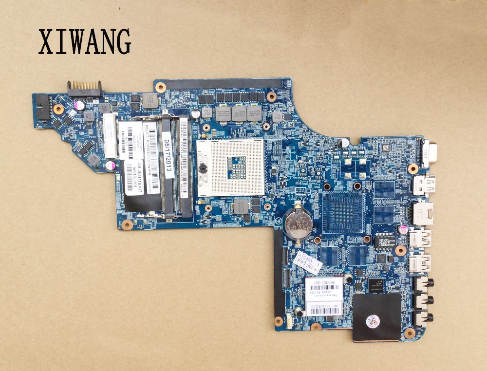 665352-001 Free Shipping For HP Pavilion DV6-6000 DV6T 48.4RH09.021 Laptop Motherboard Mainboard System board 100% Fully Tested665352-001 Free Shipping For HP Pavilion DV6-6000 DV6T 48.4RH09.021 Laptop Motherboard Mainboard System board 100% Fully Tested