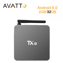[AVATTO] 2 ГБ 32 ГБ Металлический Корпус TX8 Amlogic S912 Окта основные Android 6.0 Smart TV Box 5G-Wifi, BT4.0, 4 К, H2.65 Media Player Set Top Box