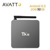 [AVATTO] 2GB 32GB Metal Case TX8 Amlogic S912 Octa Core Android 6.0 Smart TV Box 5G-Wifi,BT4.0,4k,H2.65 Media Player Set Top Box
