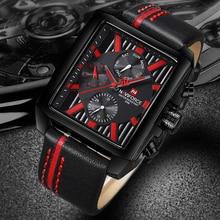 Naviforce Sport Luxe Mannen Horloge Top Merk Quartz Heren Horloges Waterdicht Auto Datum Lederen Horloges Erkek Kol Saati