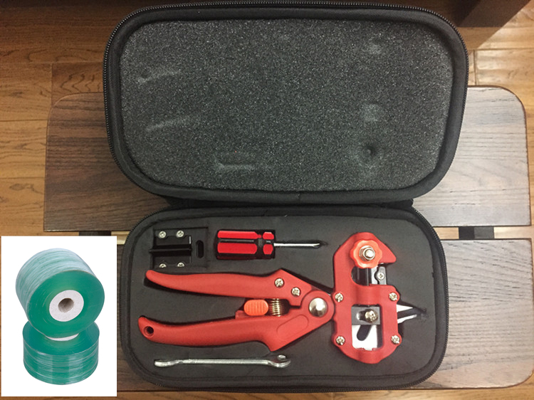 Red Color Quality Pro Garden Fruit Tree Professional Pruning Shears Grafting Cutting Tool With 2 Blades 2 Tape Hot Home professional handle pruning shears grafting cutting tool with replace parts for garden fruit tree